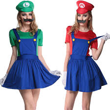 Mario Luigi Halloween Costumes Couples Buy Wholesale Super Mario Halloween Costumes China