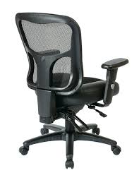 Office Chairs With Wheels Amazon Com Office Star Breathable Progrid Back With Leather And