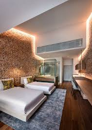 bedrooms led cove lighting for the brick walls creates a cozy
