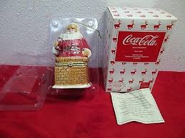 Coca Cola Christmas Ornaments - coca cola christmas ornament cavanagh santa pearlescent porcelain