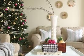 Coffee Table Christmas Decoration by Christmas Home Tour