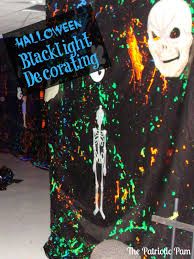 the patriotic pam halloween haunted yard with black lights