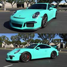 porsche gtr 4 epic tiffany blue wrapped porsche 911 gt3 gtspirit