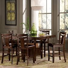 dining room square black tall dining table with storage and set