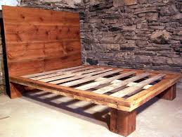 buy a hand crafted reclaimed wood platform bed from antique pine