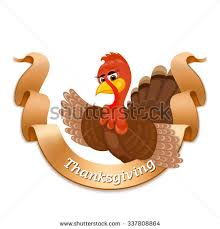 happy thanksgiving day turkey bird stock vector 337309838