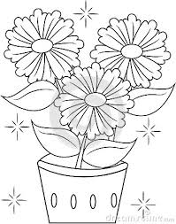 photos drawing of flower pot for kids drawing art gallery