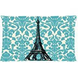 Paris Decor Amazon Com Decors Teal Chandelier Vintage Paris Decor Pillow Case