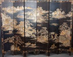 chinese room divider 19th century six fold chinese lacquer screen at 1stdibs