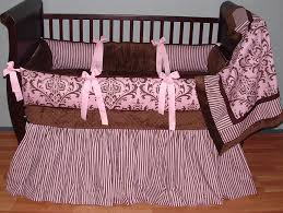 Bright Pink Crib Bedding by Fair Pink And Brown Baby Bedding Coolest Home Decoration