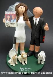 tennis cake toppers players wedding cake topper