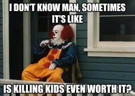 Scary Clown Meme - halloween memes scary clowns glendalehalloween