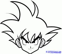draw goku easy step step dragon ball characters