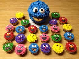 sesame cupcakes just becups birthday cupcakes