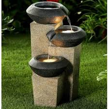 Outdoor Water Fountains With Lights Outdoor Fountains