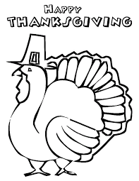 coloring pages thanksgiving turkey color page
