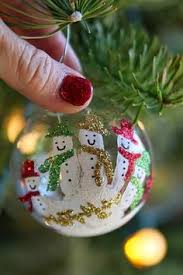 ornament with handprint snowmen adorable keepsake to make for the