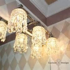 Light Waterbury Oxidized Bronze Crystal Bathroom Vanity Light At - Mix match bathroom vanity light shades