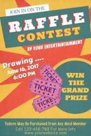 templates for raffle tickets customizable design templates for raffle postermywall