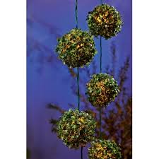 Topiary Balls With Flowers - living accents 7 5ft led topiary ball light set 624fv911