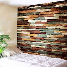 2018 wall art vintage stone brick tapestry for bedroom colormix w