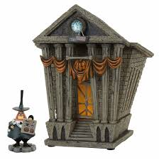 department 56 halloween village department 56 nightmare before christmas halloween town city hall