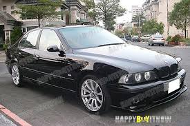 bmw m5 98 98 03 matte black painted bmw e39 m5 h type front lip splitter ebay