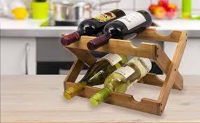sorbus wine rack stand sorbus bamboo foldable countertop wine rack 6 bottles