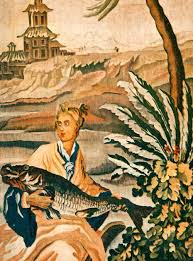 hunting fishing tagged 1947 color photolithograph french tapestry fish wildlife home decor wall xdd3