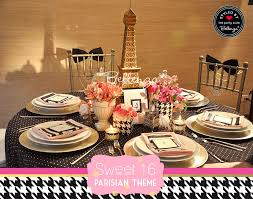 Pink And Black Sweet 16 Decorations Styling Ideas For A Paris Themed Sweet 16 Soiree
