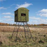 Reflective Deer Blind Booner 6 Panel Hunting Blind With Clear Windows 700346 Tower