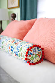 how to make a bolster pillow d i y home decor pinterest