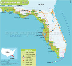 map of west coast of florida map of florida west coast florida west coast map