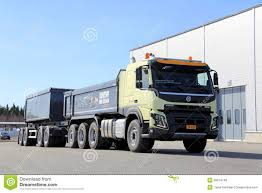 volvo truck trailer volvo fmx 8x4 heavy duty truck editorial stock photo image 39814748