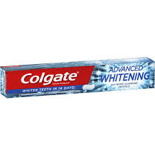 toothpaste whitening colgate advanced whitening toothpaste 110g woolworths