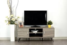 amazon com weathered grey oak finish tv entertainment center