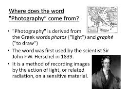 the history of photography ppt