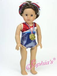 gold medal hair sophias 5 pc red white blue gymnastics leotard gold medal
