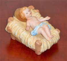 baby jesus porcelain figurine homco 5603 nativity scene