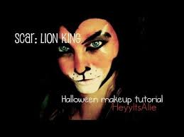 Lion King Halloween Costume Scar Lion King Makeup Messy Idea Lion King