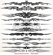 tribal style design lines graphic stock illustration