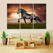 horses running pictures promotion shop for promotional horses drop shipping unframed 3 pieces nordic canvas wall art animal running horse decorative picture for living room home decor