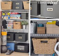 get organized storage closet makeover