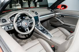 Porsche Boxster Interior - 2017 porsche 718 boxster fully revealed with turbo flat four engines
