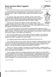msliddyhealth56 body systems work together worksheets