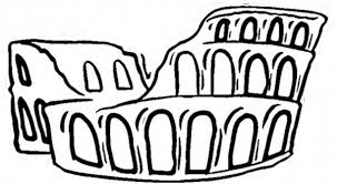 drawing ancient rome amphitheater coloring netart