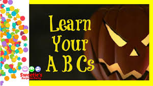 spooky halloween lettering learn the alphabet halloween abcs learn letters youtube