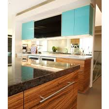 Zebra Wood Kitchen Cabinets by Able And Baker Custom Cabinetry