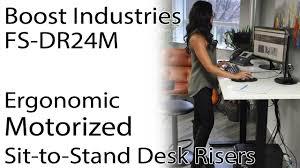 Ergonomic Desk Standing by Boost Industries Fs Dr24m Desk Floor Standing Motorized Ergonomic