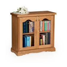 Wooden Bookcase With Doors Traditional 30